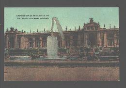 Bruxelles - Exposition De Bruxelles 1910 - Les Cascades Et La Façade Principale - Carte Vernie - Expositions Universelles