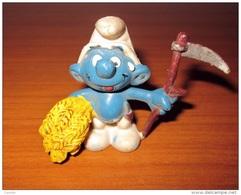 PUFFO CONTADINO MIETITORE SCHLEICH 198I PEYO - Smurfs