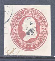 US CUT  SQUARE U  277 A   BROWN-LAKE      (o)   1884-6  ISSUE - Postal Stationery
