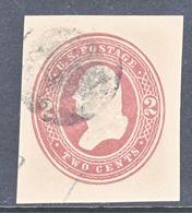 US CUT  SQUARE U  279   ORIENTAL  BUFF      (o)   1884-6  ISSUE - Postal Stationery