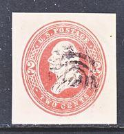 US CUT  SQUARE U  281  FAWN      (o)   1884-6  ISSUE - Postal Stationery