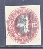 US CUT  SQUARE U  284  AMBER  MANILA      (o)   1884-6  ISSUE - Postal Stationery