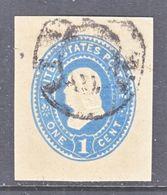 US CUT  SQUARE U  302   MANILA     (o)   1887-94  ISSUE - Postal Stationery