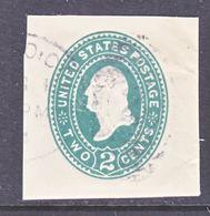 US CUT  SQUARE U  305       (o)   1887-94  ISSUE - Postal Stationery