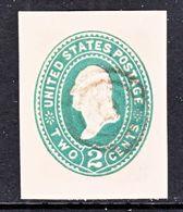US CUT  SQUARE U  307  ORIENTAL  BUFF      (o)   1887-94  ISSUE - Postal Stationery