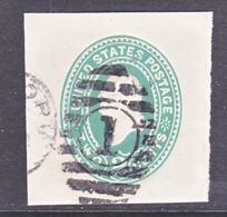US CUT  SQUARE U  311    (o)   1887-94  ISSUE - Postal Stationery