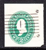 US CUT  SQUARE U  311 A  DARK  GREEN    (o)   1887-94  ISSUE - Postal Stationery