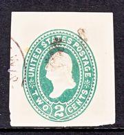 US CUT  SQUARE U  318    (o)   1887-94  ISSUE - Postal Stationery