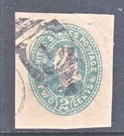 US CUT  SQUARE U  322   MANILA   (o)   1887-94  ISSUE - Postal Stationery