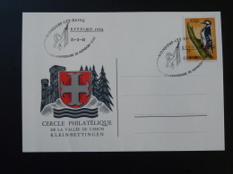 Carte Expo Philatélique EXPHIMO Mondorf Les Bains  Luxembourg 1961 - Tarjetas Conmemorativas