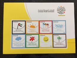 UAE 2017 National Happiness Program Sheetlet MNH Stamp Set - Verenigde Arabische Emiraten