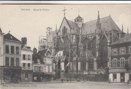 Cp , 10 , TROYES , Église Saint-Urbain (échafaudage Pour Travaux) - Troyes