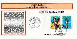 LUCKY LUKE FDC ORIGINAL TIMBRE N° 3546 Et 3547 - FDC