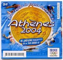 Tickets  De La Française Des Jeux Partenaire Officiel De L'Equipe De France Pour Les Jeux Olympiques D'Athènes 2004 - Other