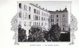 1912 - Phototypie - Monte-Carlo (Monaco) - Le Grand Hôtel - FRANCO DE PORT - Unclassified