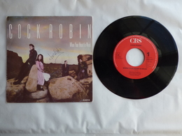 EP 45T COCK ROBIN  CBS  A-6214  WHEN YOUR HEART IS WEAK - Disco, Pop