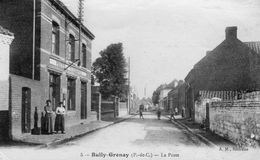 CPA - BULLY-GRENAY (62) - Aspect Du Quartier De La Poste En 1919 - Sonstige Gemeinden