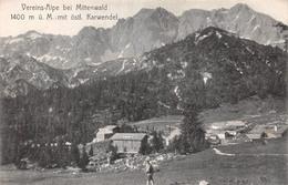 Allemagne - Vereins Alpe Bei Mittenwald 1400 M ü. M. Mit Östl. Karwendel - Mittenwald