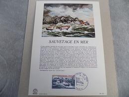 FDC Format Demi A4 France : Sauvetage En Mer - Paris 27/04/1974 - FDC