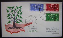 Chypre 1963 (Cyprus)  N°207/209 Sur Enveloppe (Europa) - Chypre (République)