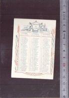 Calendrier 1919 - Pates Alimentaires De Lyon - Hartaut Ghiglione - Les Plus Longues à Cuire, Les Meilleures - Small : 1901-20