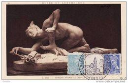 *** Carte Sur Carte Mercure Musée Du Luxembourg Mercure 546 549 Cachet Exposition Philatélique Saint Maur Des Fosses*** - 1940-49