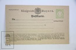 1900's Germany Postcard Stationary - Konigreich - Bayern - Unposted - Bavaria