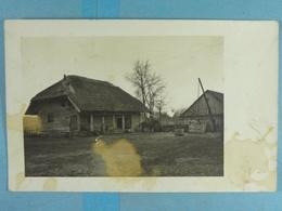Carte Photo Ferme En Lituanie En 1917 - Guerre 1914-18