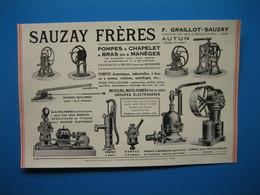 (1927) Pompes SAUZAY FRÈRES à Autun (Saône-et-Loire) -- Pompes De Secours Contre L'Incendie LÉON QUIRLINE Au Havre - Ohne Zuordnung