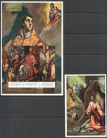 L293 IMPERFORATE, PERFORATE ST.VINCENT & THE GRENADINES ART EL GRECO LAWRENCE GETHSEMANE 1KB+1BL MNH - Art