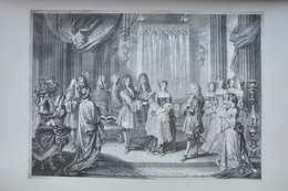 GRAVURE 538 / LOUIS XIV ET Mr DE BOURGOGNE D'après WATTEAU Par NICOLAS DE LARMESSIN Né à PARIS - Prints & Engravings