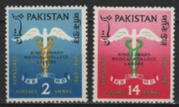 Pakistan (1960) Yv. 119/20  /  King Edward Medical College - Pakistan
