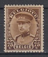 BELGIË - OPB - 1932 - Nr 342 - MH* - 1931-1934 Mütze (Képi)