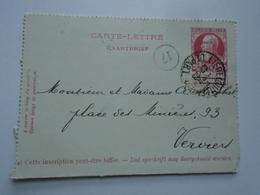 D156854  Belgique - Carte Lettre 1906 - Oblitération Liège Guillemins  á Verviers - Belgique