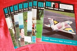 LOT DE 10 REVUES  MRA  1980 - Modèles R/C