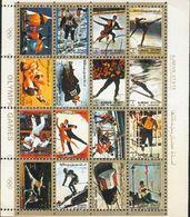 Ajman - Bloc Feuillet De 16 Timbres Oblitérés - Jeux Olympiques - Vignettes De Fantaisie