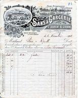 TOILES POUR ESPADRILLES- SANS & GARCERIE- 1904- ST. LAURENT DE CERDANS - Textilos & Vestidos