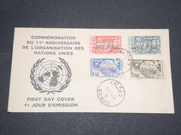 SYRIE - Enveloppe FDC En 1956 , Organisation Des Nations Unies - L 14129 - Syrie