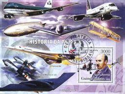 Guinea-Bissau Space, KLM Airline, Concord, Zeppelins, Transport Used Cancelled M/S (U-73) - Guinea-Bissau