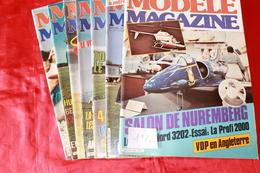 LOT DE  7  REVUES  MODELE MAGAZINE 1982 - R/C Scale Models