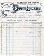FABRIQUE DE TISSUS- LOUIS LEPETIT- 1904- FLERS - Textilos & Vestidos