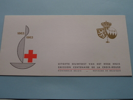 1863 - 1963 Uitgifte EEUWFEEST Van Het RODE KRUIS / CROIX-ROUGE Emission Centenaire ( Zie Foto Voor Details ) !! - Booklets 1953-....