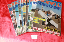 LOT DE  10  REVUES  MODELE MAGAZINE 1983 - Modèles R/C