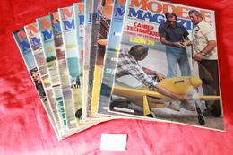 LOT DE  11  REVUES  MODELE MAGAZINE 1980 - R/C Scale Models
