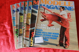 LOT DE  7  REVUES  MODELE MAGAZINE 1981 - Modèles R/C