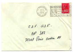DEUX SEVRES - Dépt N° 79 = BRESSUIRE 1975 =  FLAMME à DROITE = SECAP Illustrée  ' CLOCHER / CHATEAU / PISCINE ' - Postmark Collection (Covers)