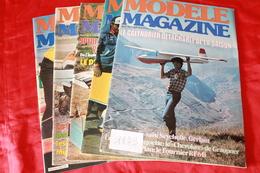 LOT DE 5  REVUES  MODELE MAGAZINE 1979 - Modèles R/C