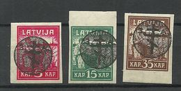 Russia LETTLAND Latvia 1919 Michel 20 - 22 Westarmee Western Army MNH - Westelijk Leger