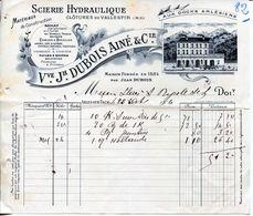 SCIERIE HYDRAULIQUE- VVE. JH. DUBOIS AINÉ & CIE- 1904- ARLES-SUR-TECH. - Textilos & Vestidos