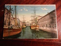 15323) TRIESTE CANAL GRANDE E CHIESA DI S. ANTONIO VIAGGIATA 1927 BOLLO VII CENTENARIO FRANCESCANO - Trieste